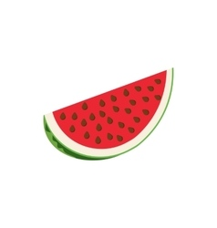 Slice of watermelon icon cartoon style vector image