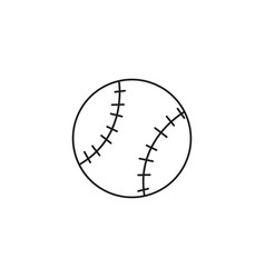 Soft ball icon vector