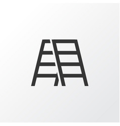 stepladder icon symbol premium quality isolated vector image