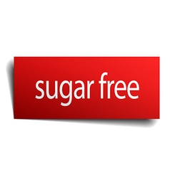 Sugar free red paper sign isolated on white vector