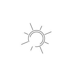 sun simple line icon vector image