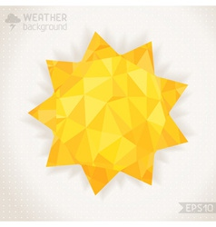 Sunny geometric background vector