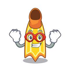 super hero swim fin character cartoon vector image