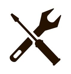 Support repair tools sign icon dark vector