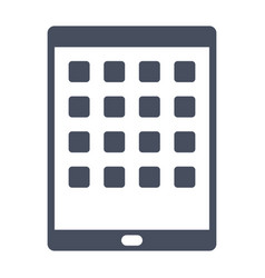 Tablet computer icon vector