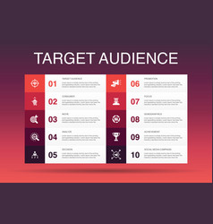 Target audience infographic 10 option template vector