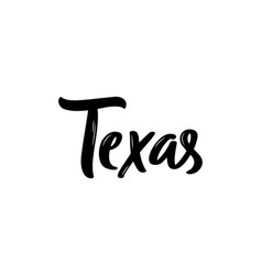 Texas lettering handwritten vector