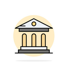 University bank campus court abstract circle vector