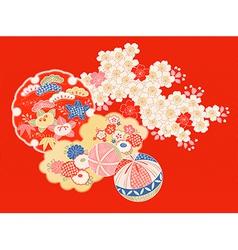 vintage Japanese kimono vector image