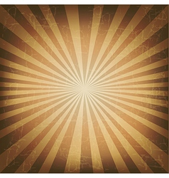 Vintage Label With Old Sunburst vector image