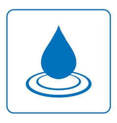 Water drop icon with wave 5 vector