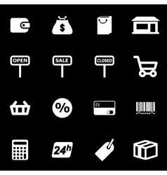 white shop icon set vector image