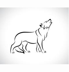 Wolf design on white background easy editable vector