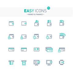 easy icons 09e money vector image vector image