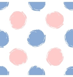 Seamless pattern polka dots in color 2016 rose vector image
