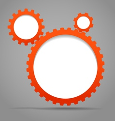 abstract gears vector image