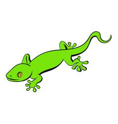green gecko lizard icon cartoon vector image