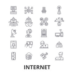 internet web network communication online site vector image