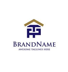 letter pt real estate logo vector image vector image