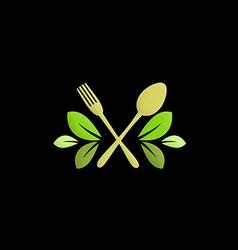 organic food restaurant logo vector image vector image