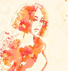 Portrait of beautiful women vector