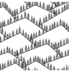 seamless abstract mountains with fir background vector image vector image