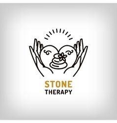 stone therapy beauty spa relax icon vector image vector image