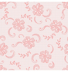Vintage lace background ornamental flowers texture vector image