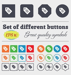 Web stickers tags and banners icon sign Big set of vector image