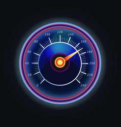 arrow on measuing gauge or speedometer vector image