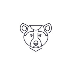 bear line icon sign vector image
