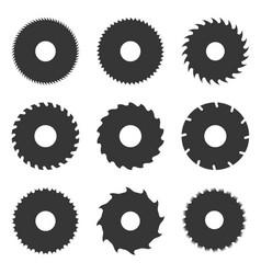 circular saw blades set vector image vector image