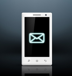 envelope icon on the screen of your smartphone vector image