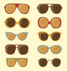Fashion sunglasses set vector image vector image