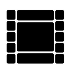 film strip silhouette icon video symbol vector image