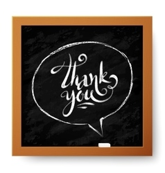 Hand drawn Thank You sign in speech bubble on vector image
