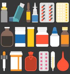 medicine collection set 2 vector image