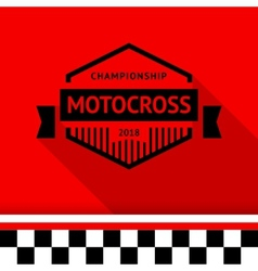 Racing stamp-10 vector image vector image