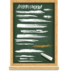 brush strokes of chalk on a blackboard vector image