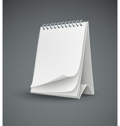 calendar template with blank vector image vector image