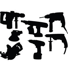collection of tools vector image