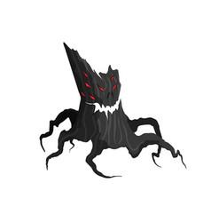 horror tree on a white background evil monster vector image