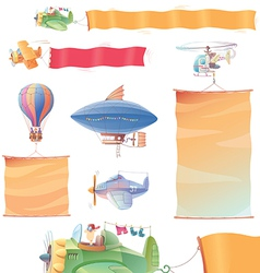 Planes with Banners vector image