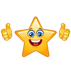 thumbs up star vector image vector image