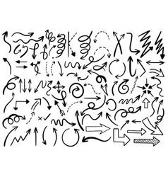 0035 hand drawn arrows vector