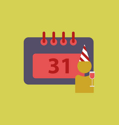 31st of december calendar vector