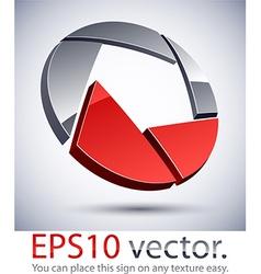 3D modern vignetter logo icon vector