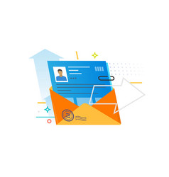 A letter with a profile a person vector