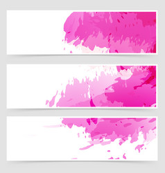 abstract art header set collection vector image
