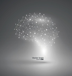 Abstract brain graphicpoints and lines connected vector